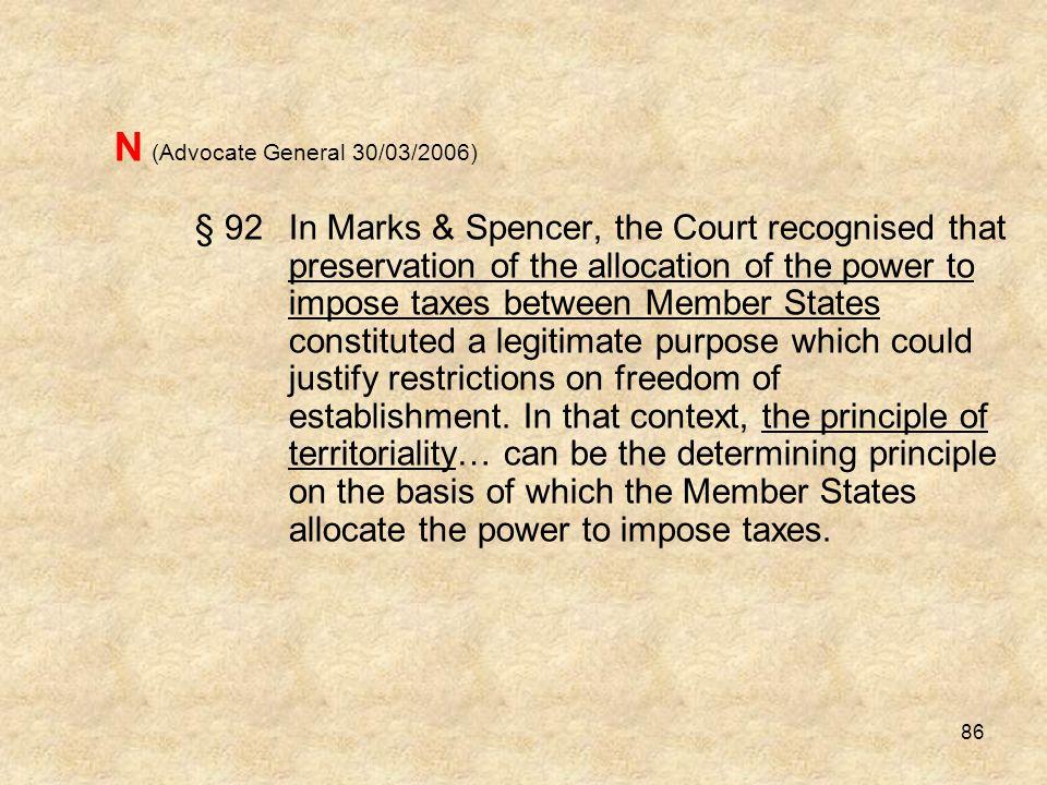 N (Advocate General 30/03/2006)