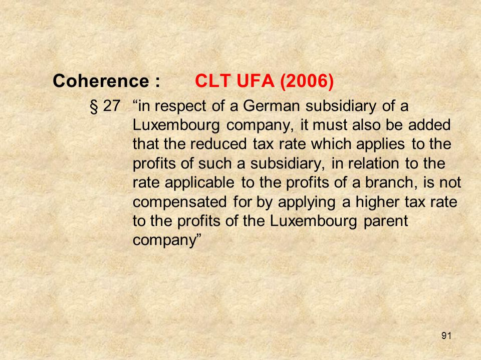 Coherence : CLT UFA (2006)