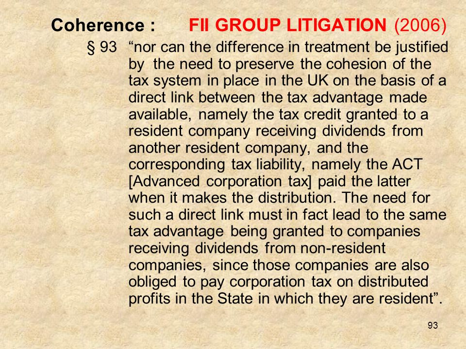 Coherence : FII GROUP LITIGATION (2006)