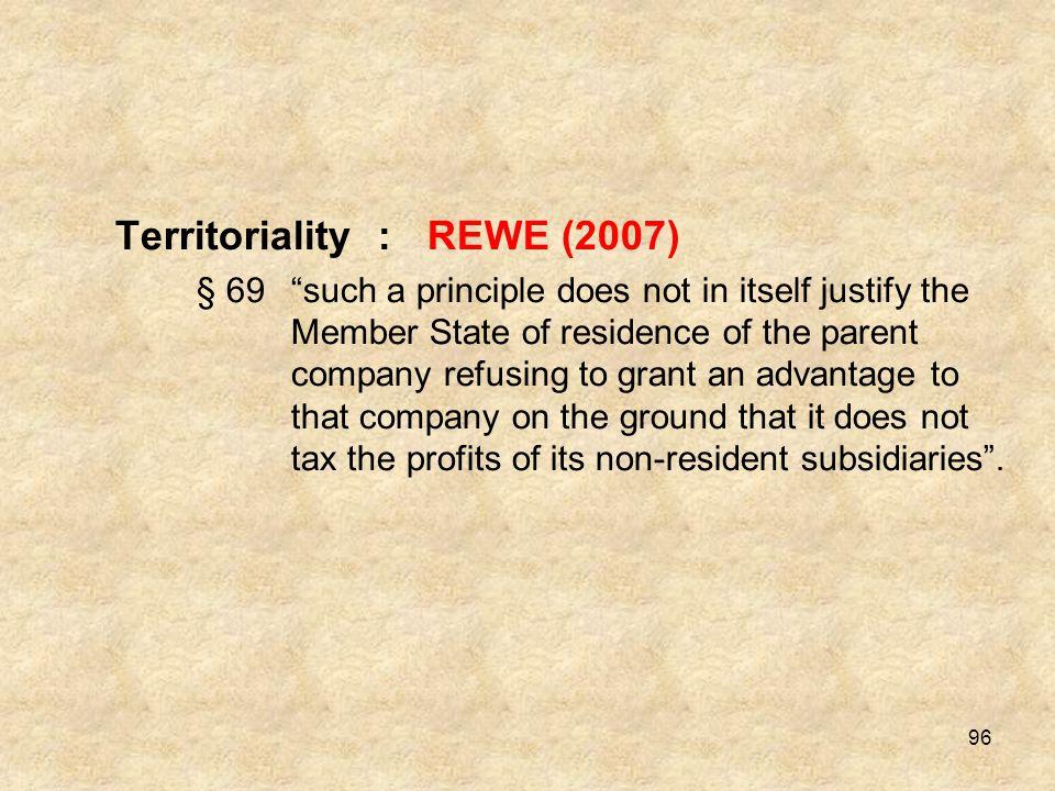 Territoriality : REWE (2007)