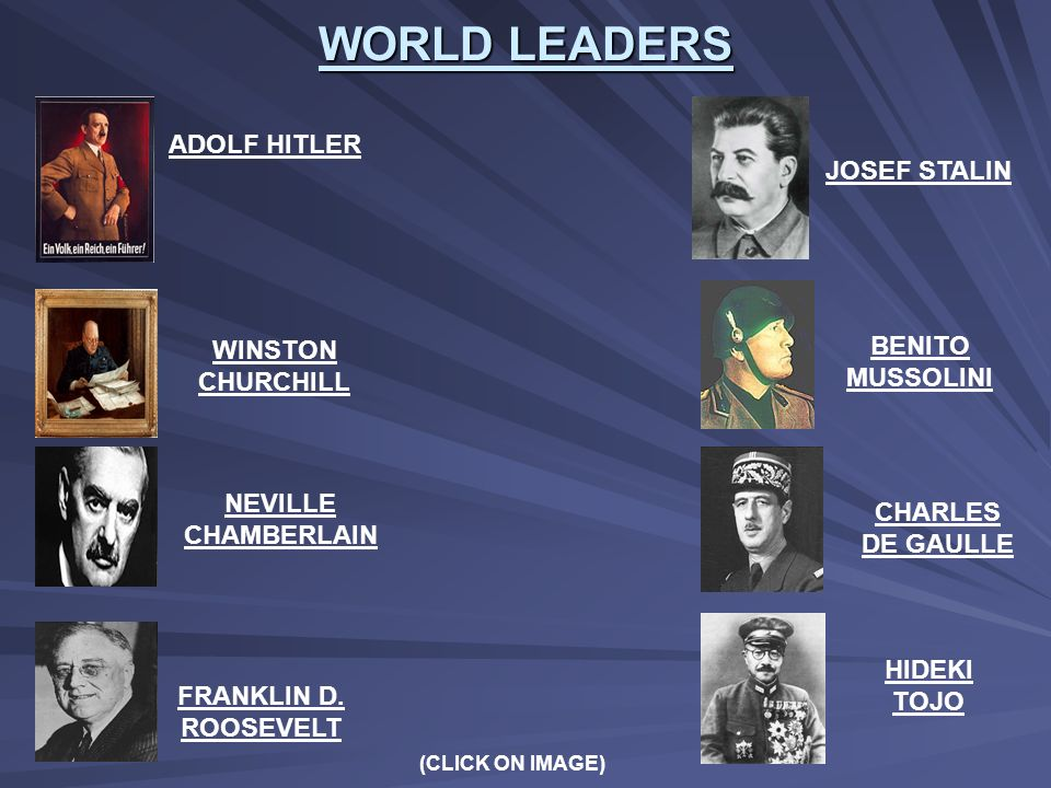 WORLD LEADERS ADOLF HITLER JOSEF STALIN BENITO MUSSOLINI