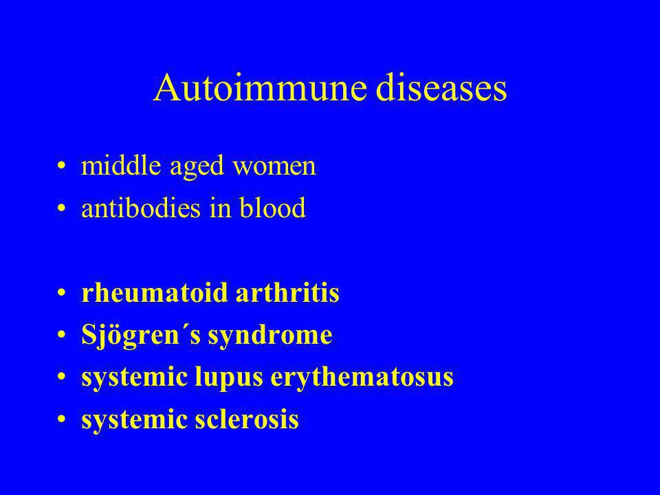Autoimmune diseases middle aged women antibodies in blood