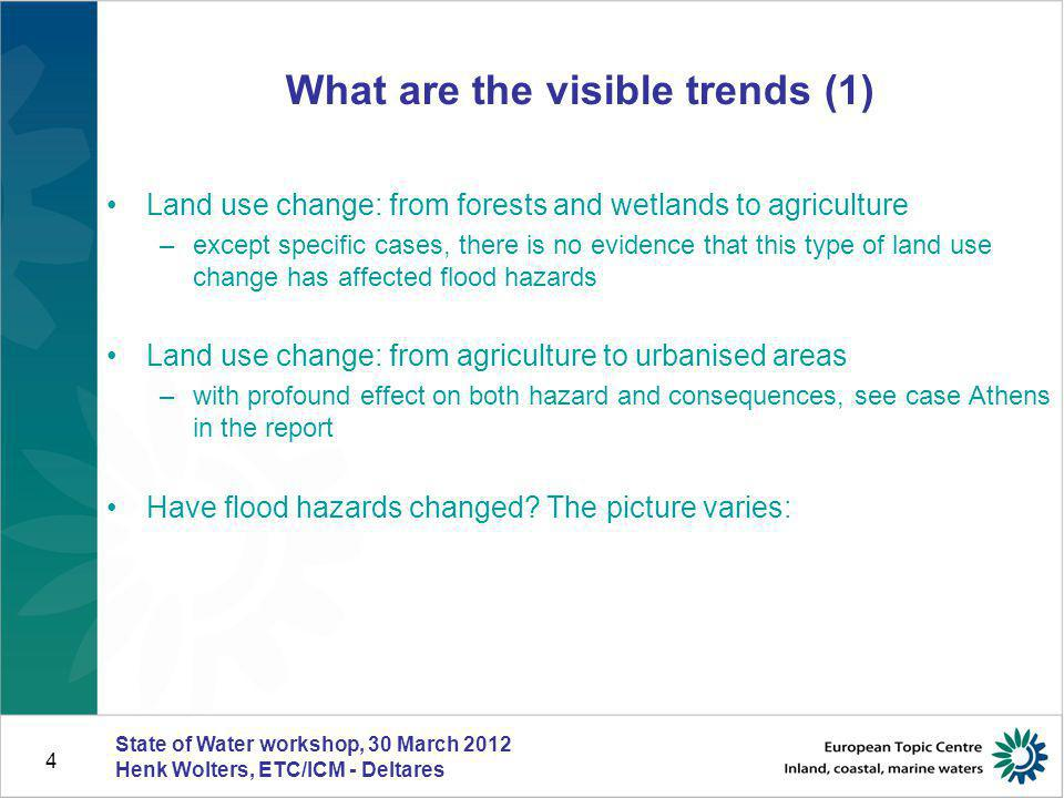 What are the visible trends (1)