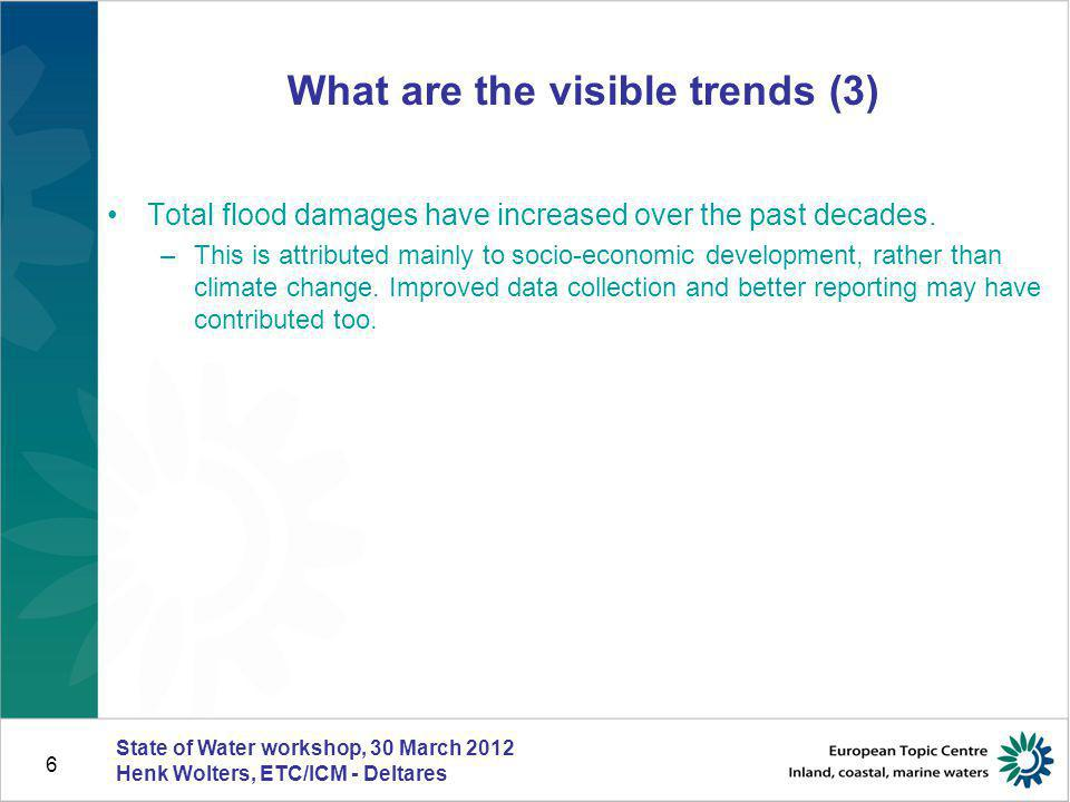 What are the visible trends (3)