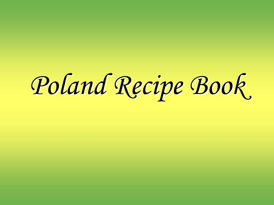 Poland Recipe Book