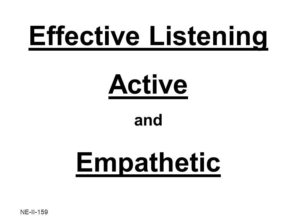 Effective Listening Active Empathetic