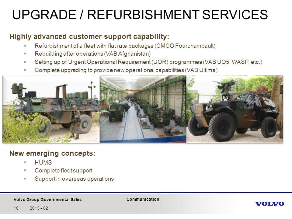 UPGRADE / REFURBISHMENT SERVICES
