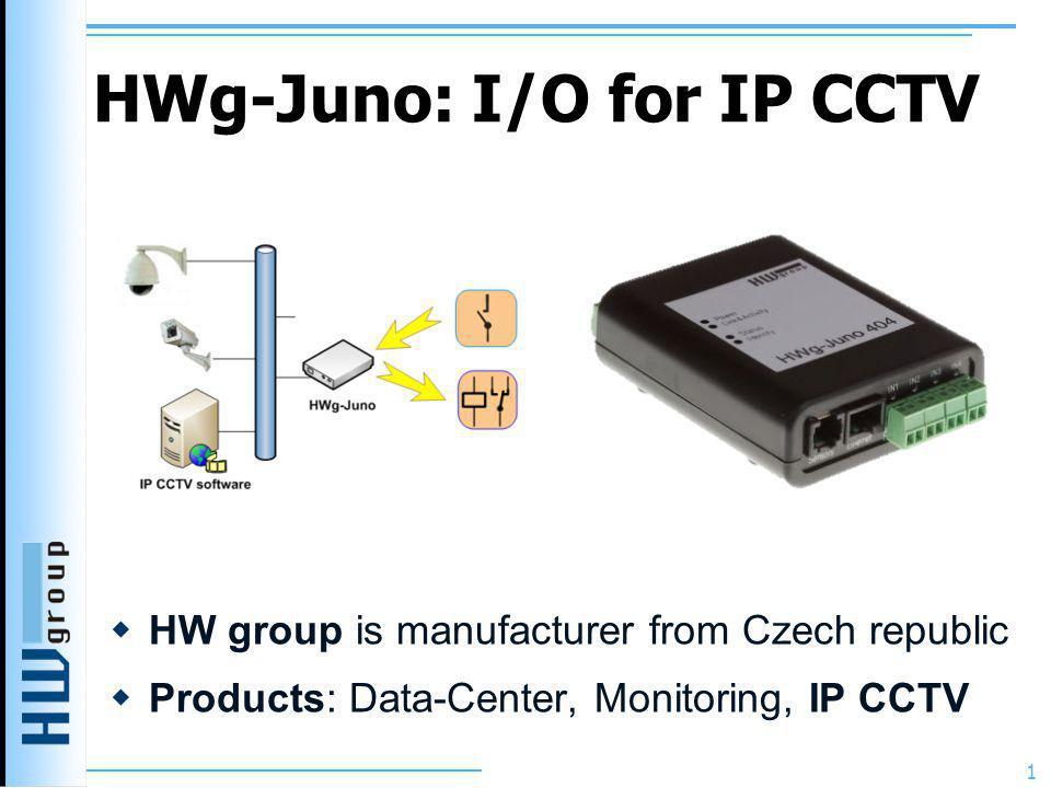 HWg-Juno: I/O for IP CCTV