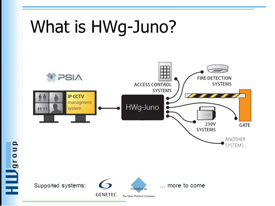 What is HWg-Juno Supported systems: … more to come