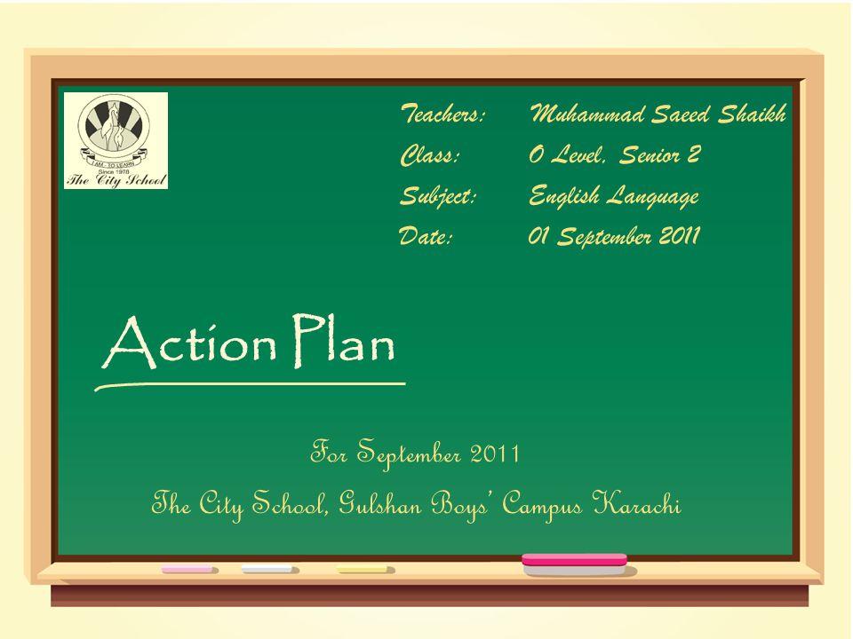The City School, Gulshan Boys' Campus Karachi
