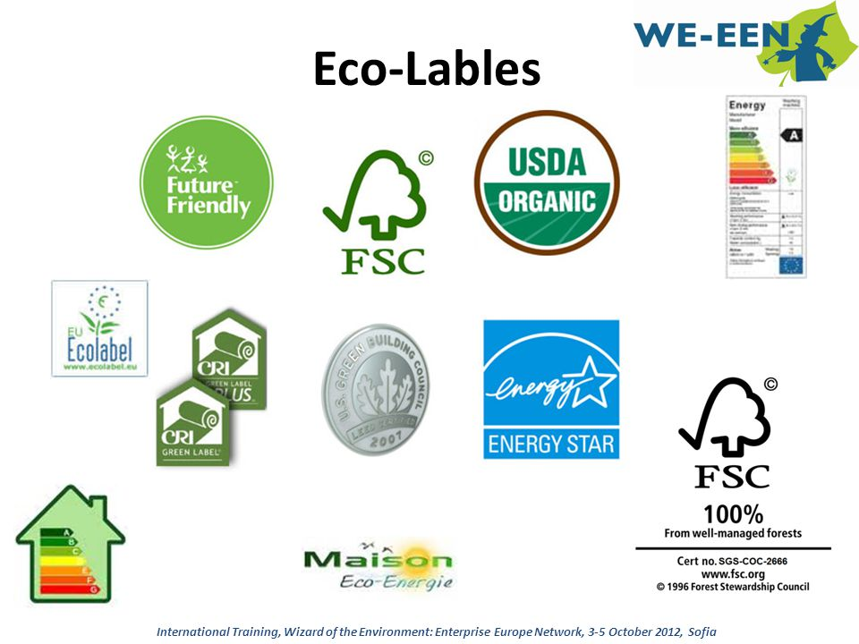 Eco-Lables International Training, Wizard of the Environment: Enterprise Europe Network, 3-5 October 2012, Sofia.