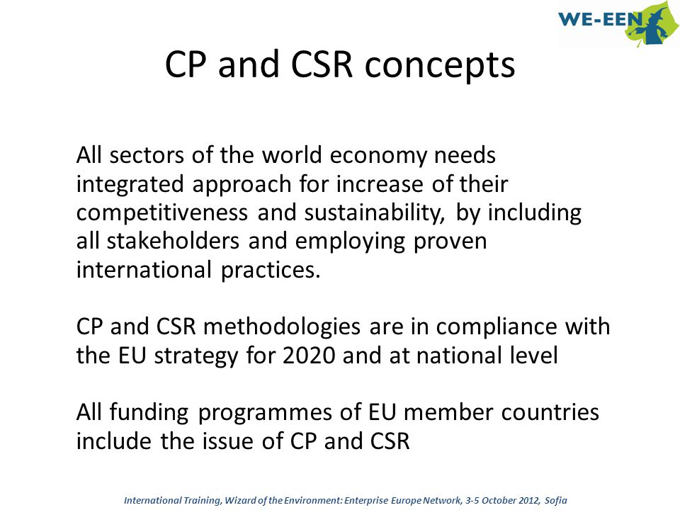 CP and CSR concepts