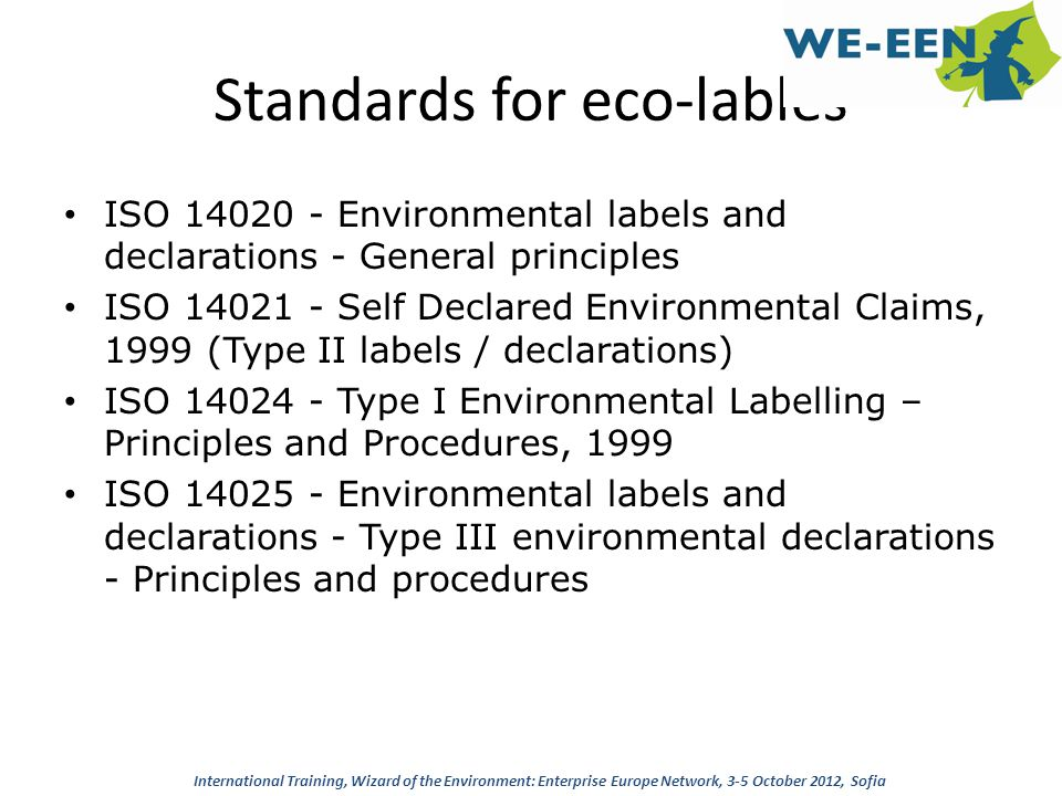 Standards for eco-lables