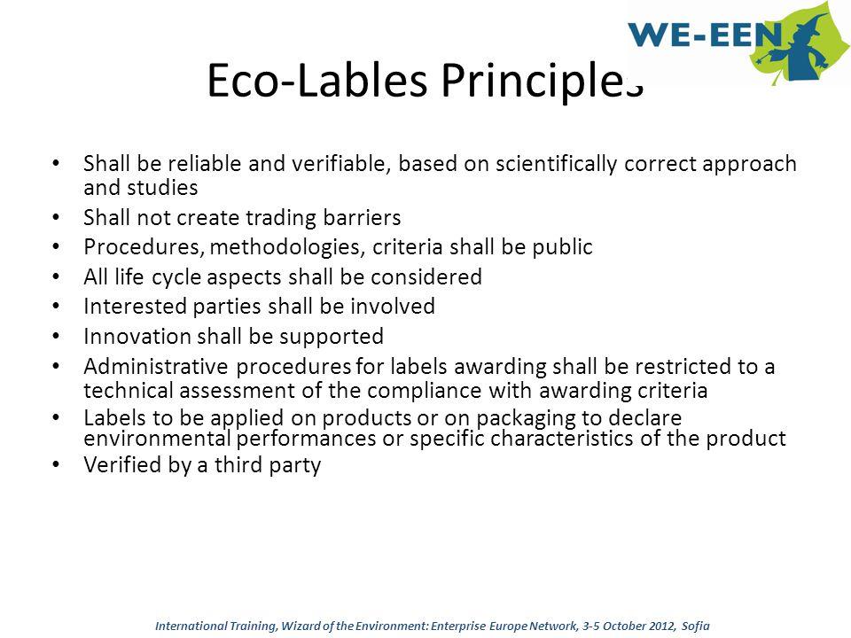 Eco-Lables Principles