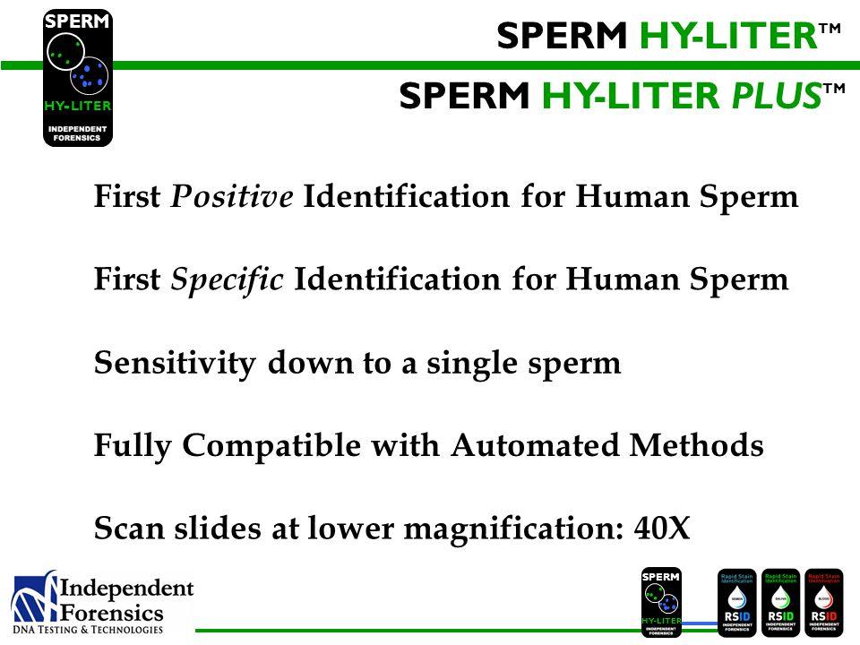 SPERM HY-LITERTM SPERM HY-LITER PLUSTM