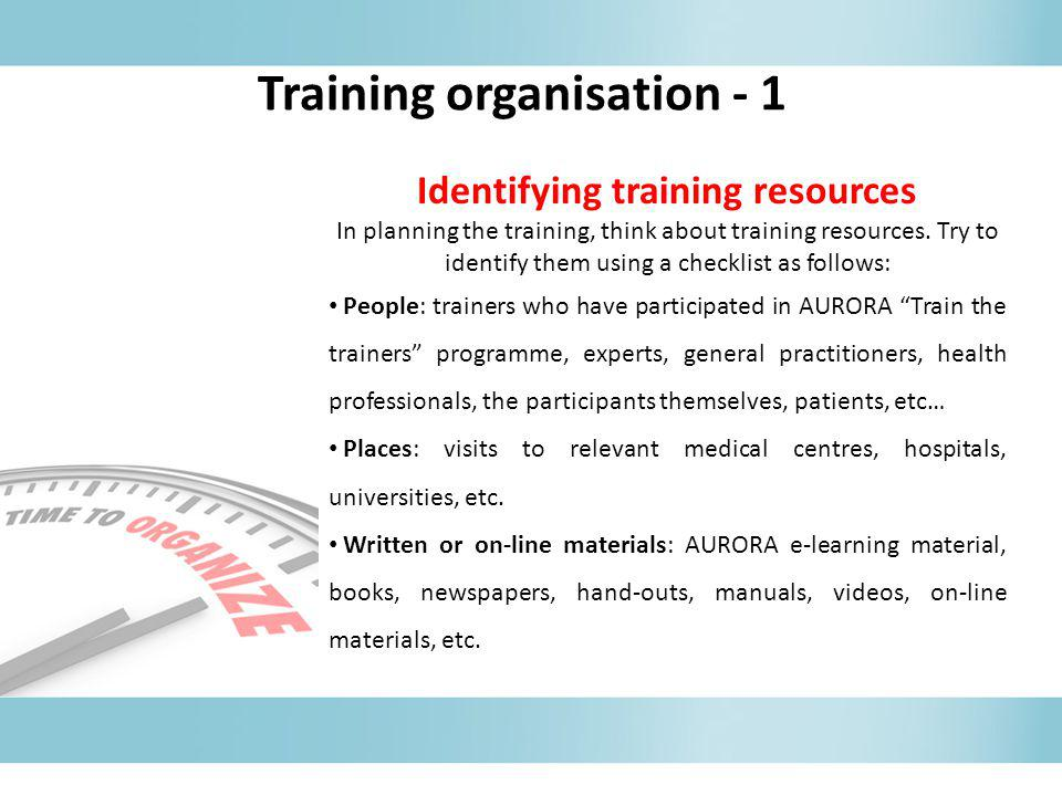 Training organisation - 1