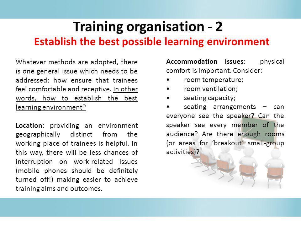 Training organisation - 2