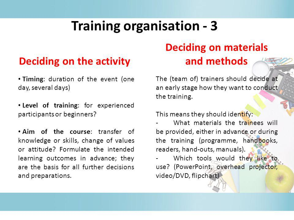 Training organisation - 3