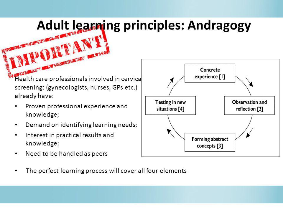 Adult learning principles: Andragogy