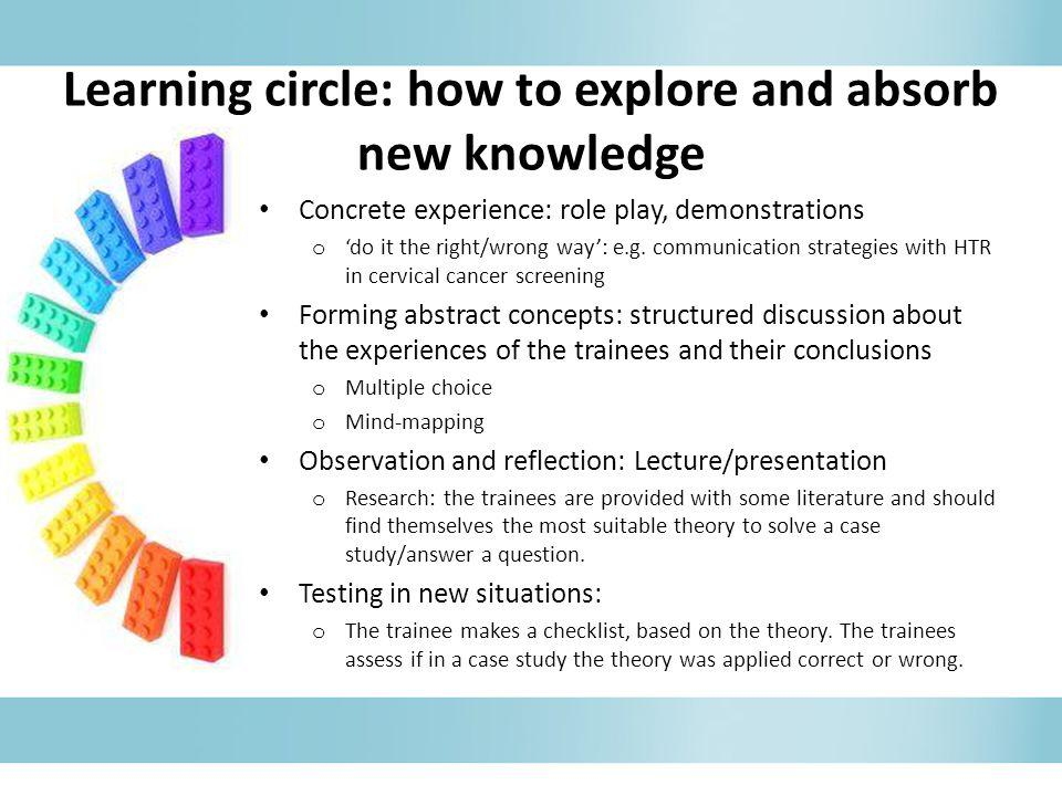 Learning circle: how to explore and absorb new knowledge