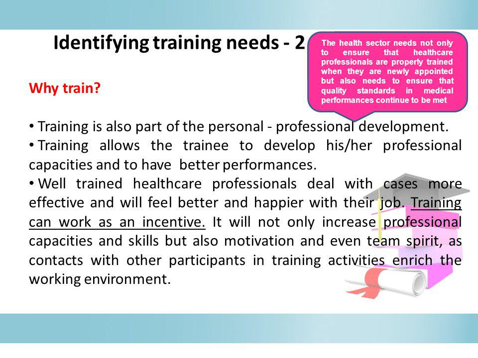 Identifying training needs - 2