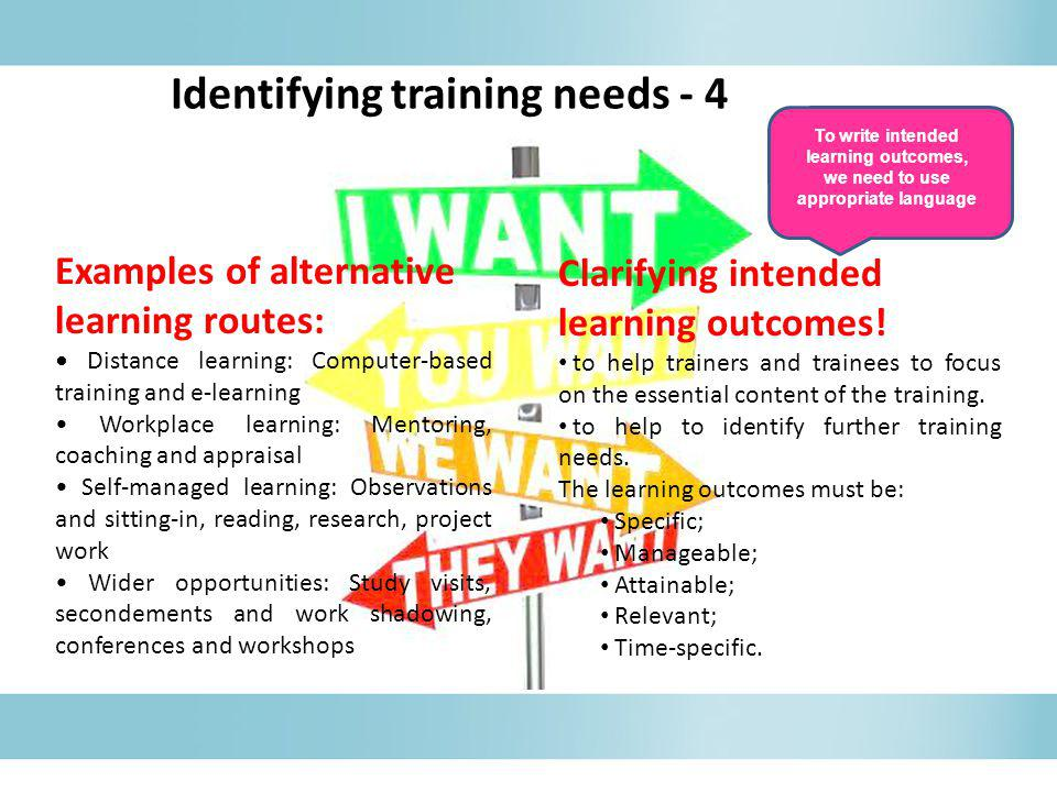 Identifying training needs - 4