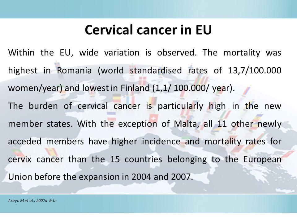 Cervical cancer in EU