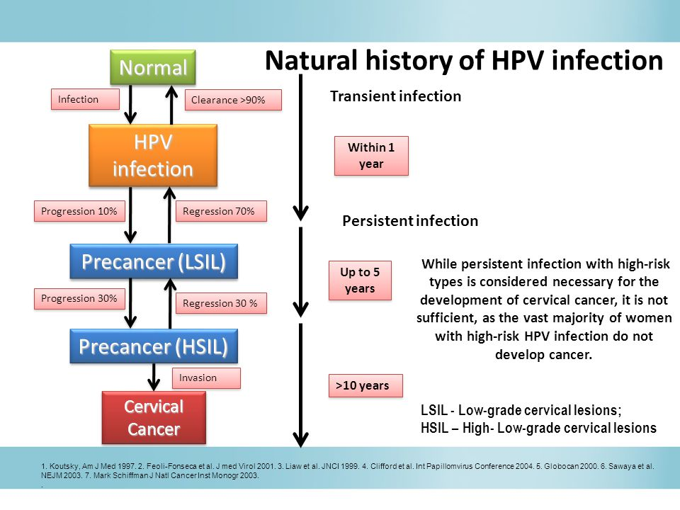 Natural history of HPV infection