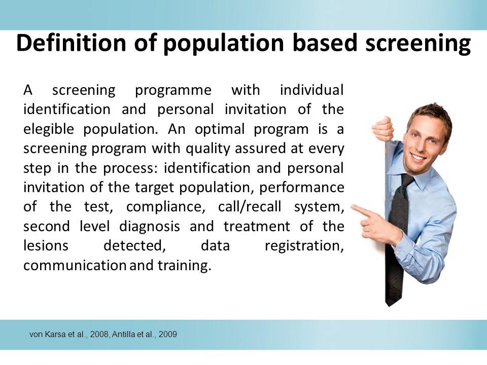 Definition of population based screening