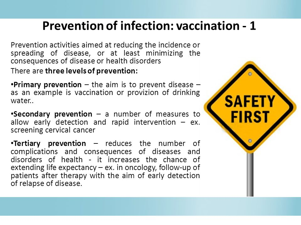 Prevention of infection: vaccination - 1
