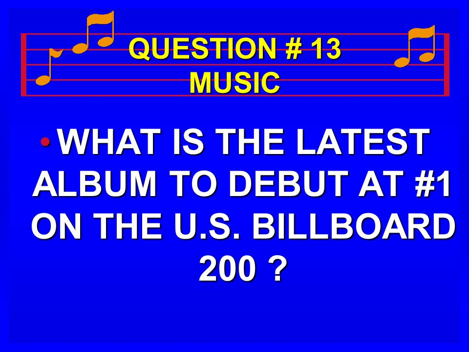 WHAT IS THE LATEST ALBUM TO DEBUT AT #1 ON THE U.S. BILLBOARD 200