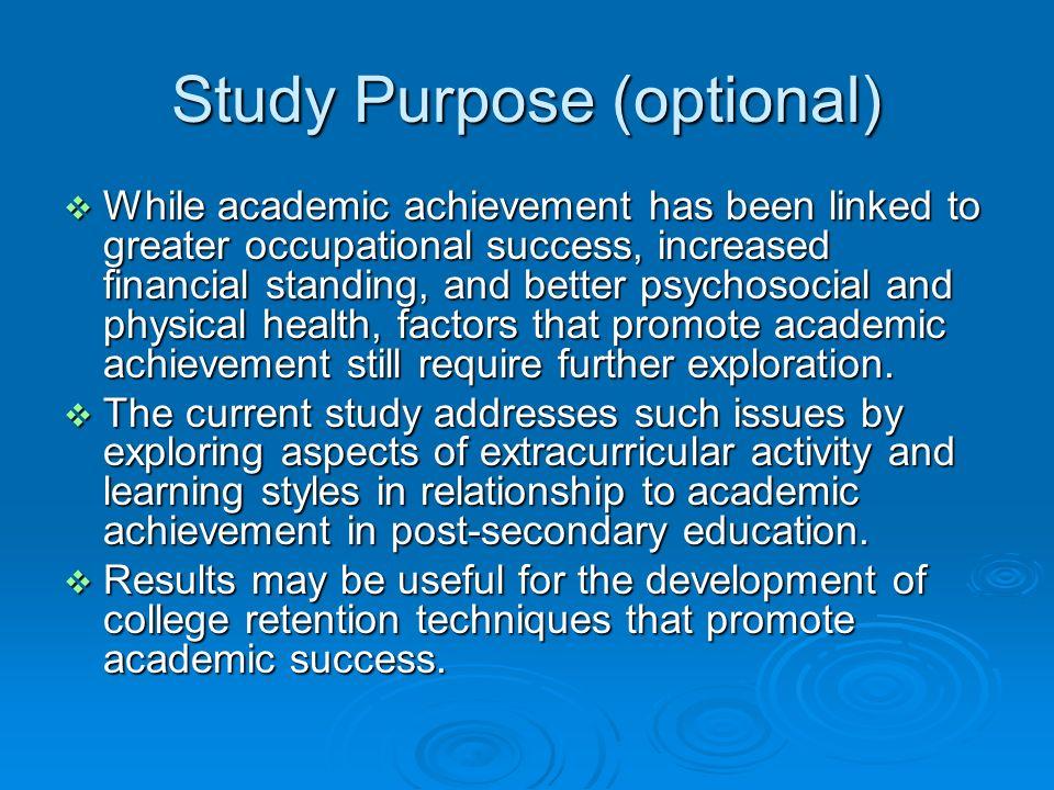 Study Purpose (optional)