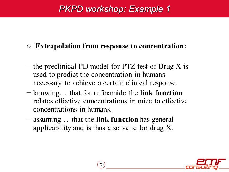 PKPD workshop: Example 1