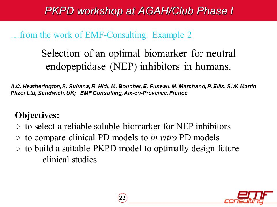 PKPD workshop at AGAH/Club Phase I
