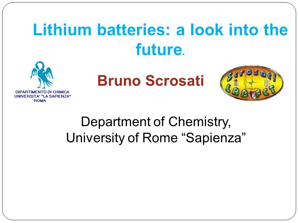 Lithium batteries: a look into the future.