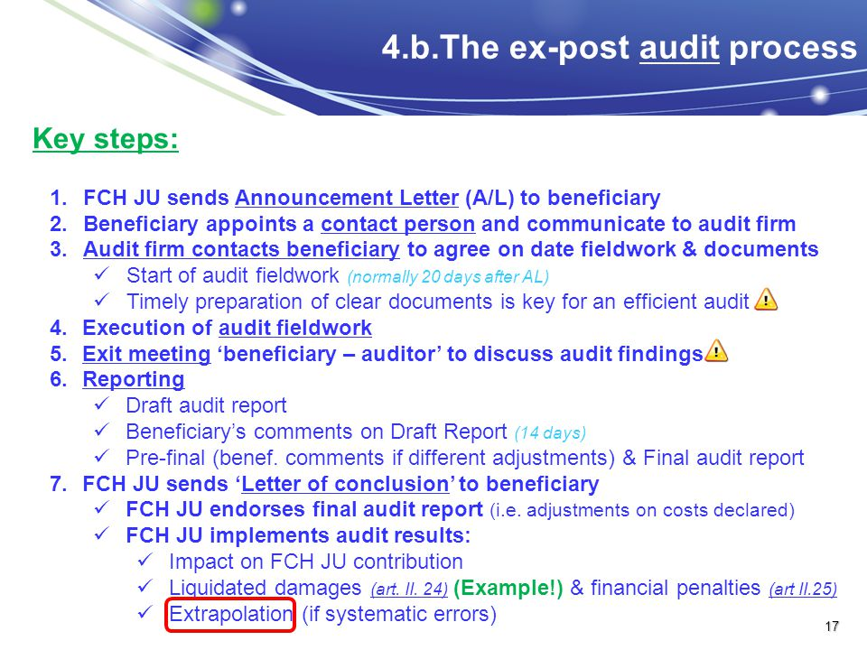 4.b.The ex-post audit process
