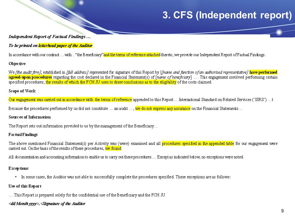 3. CFS (Independent report)