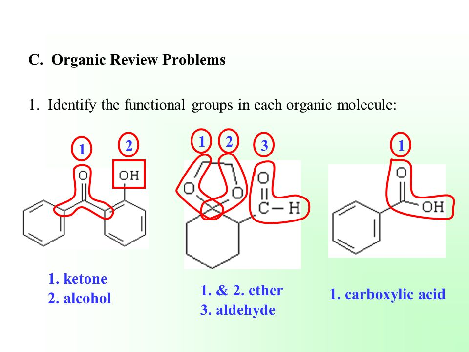 C. Organic Review Problems