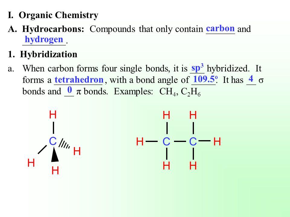 C H C H I. Organic Chemistry