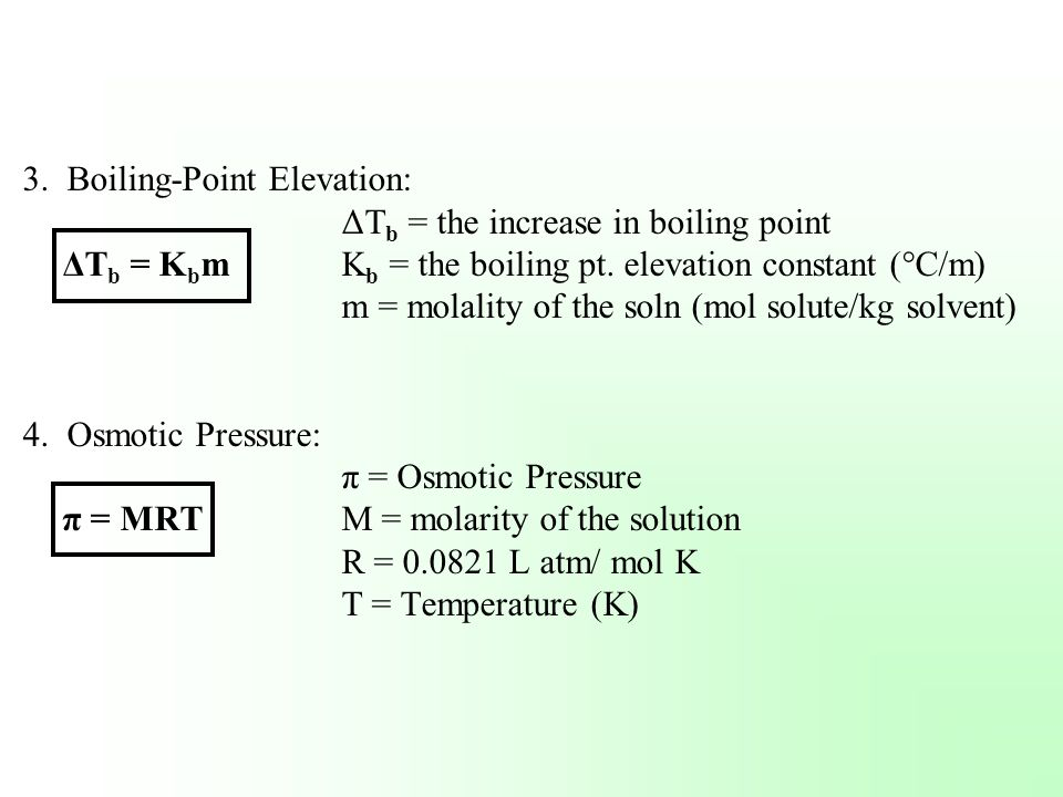3. Boiling-Point Elevation: