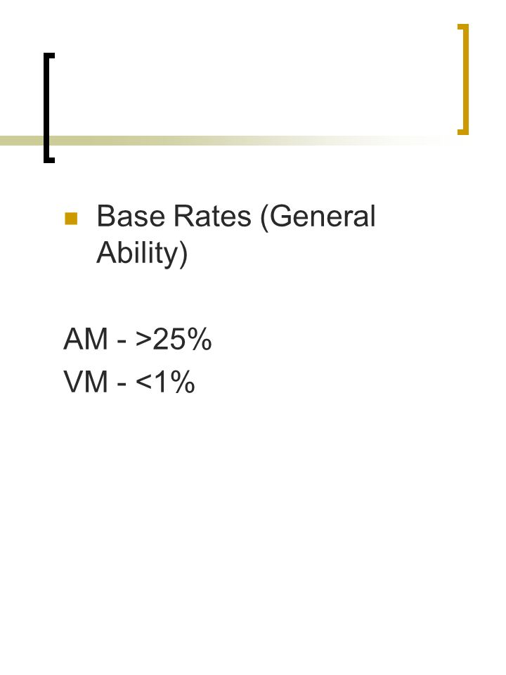 Base Rates (General Ability)