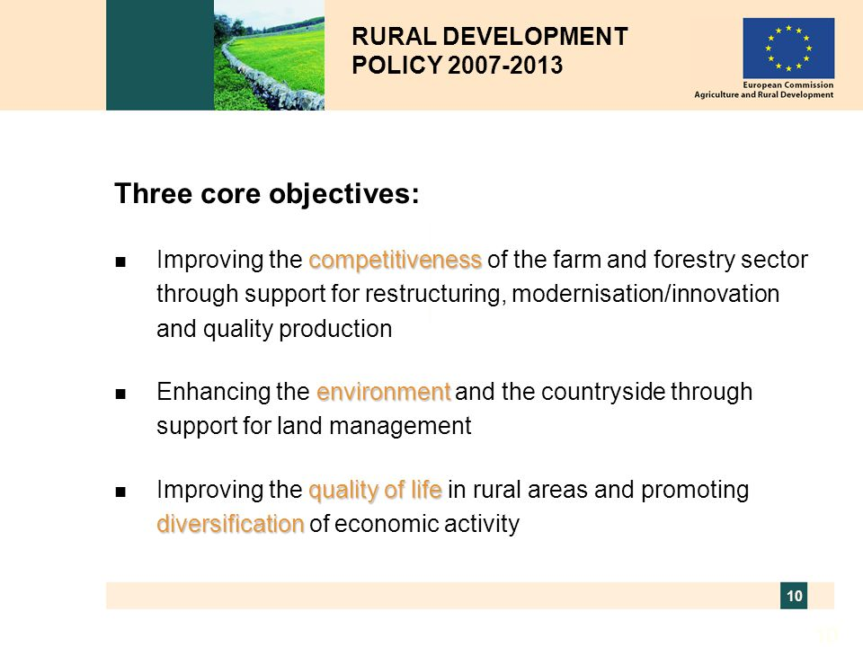 Three core objectives: