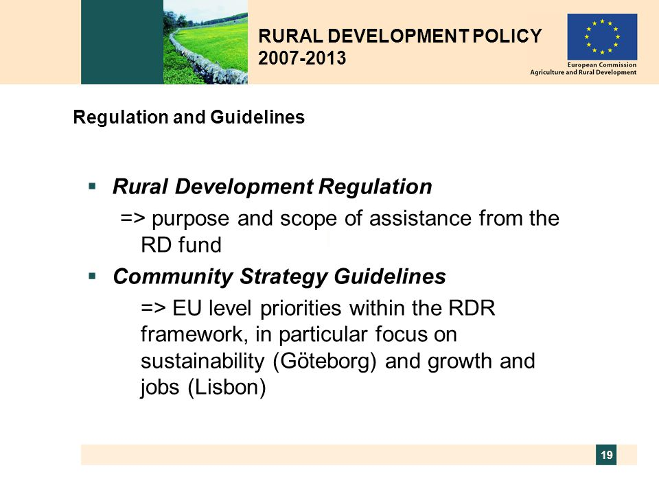Regulation and Guidelines