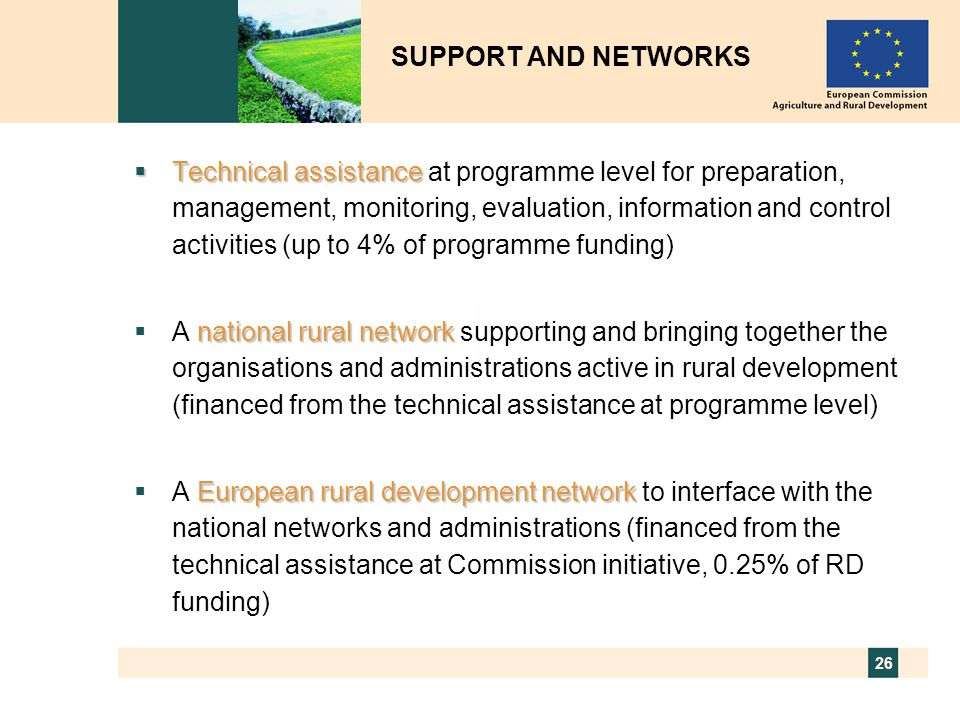 SUPPORT AND NETWORKS
