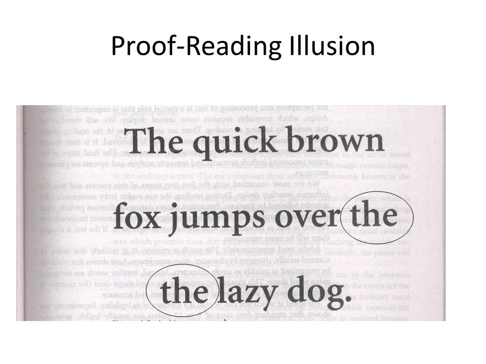 Proof-Reading Illusion
