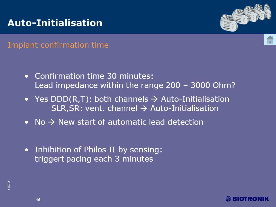 Auto-Initialisation Implant confirmation time