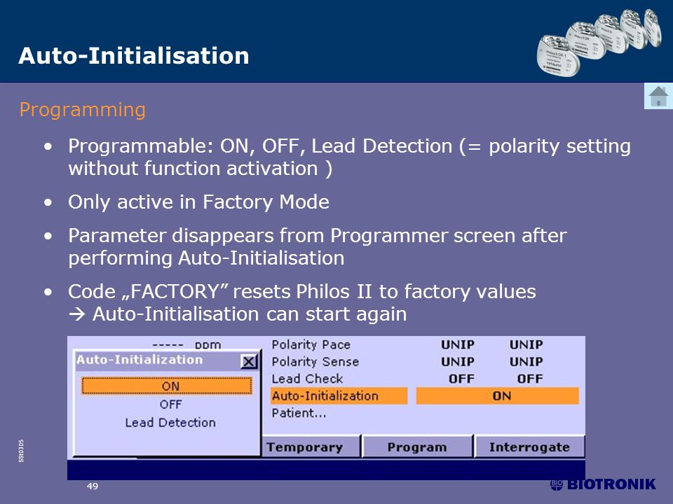 Auto-Initialisation Programming