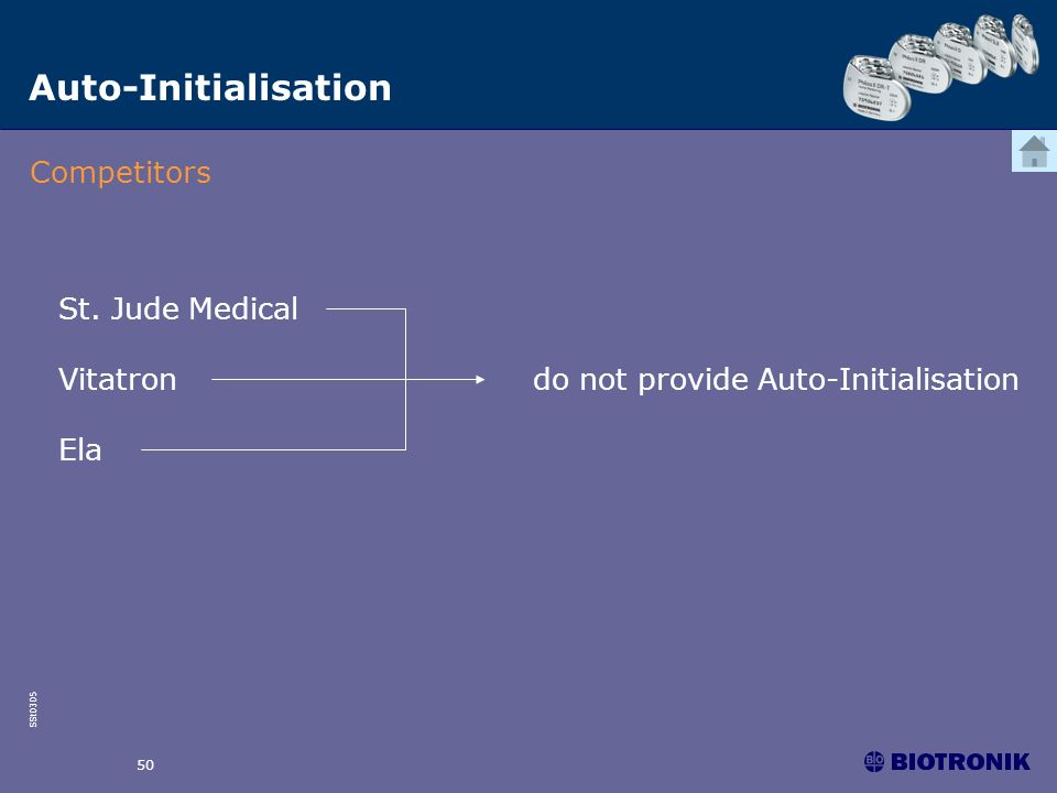 Auto-Initialisation Competitors St. Jude Medical