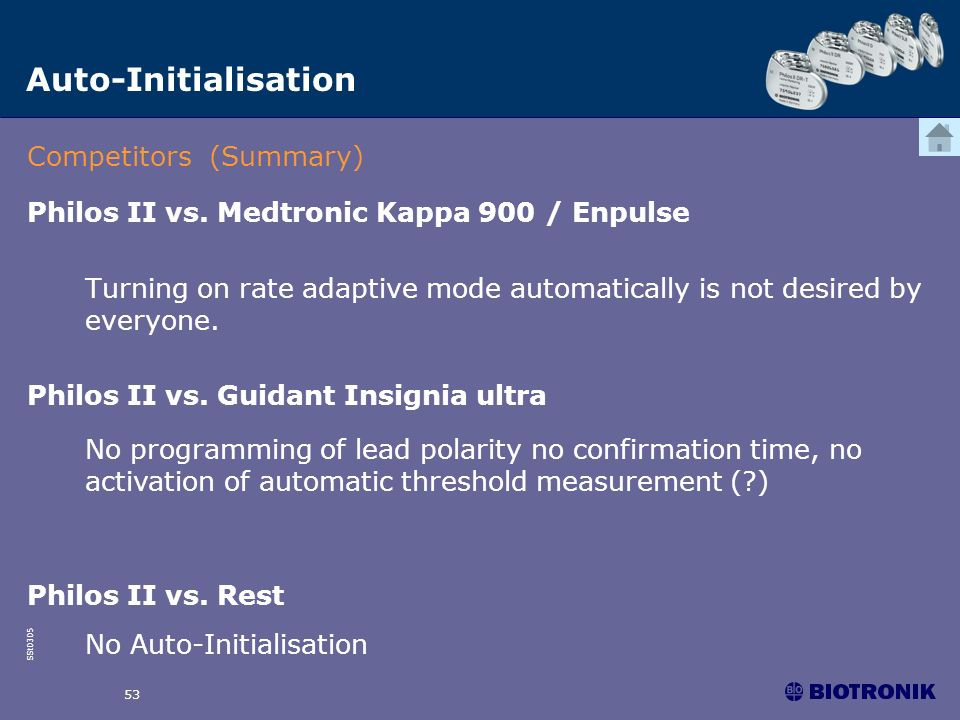 Auto-Initialisation Competitors (Summary)