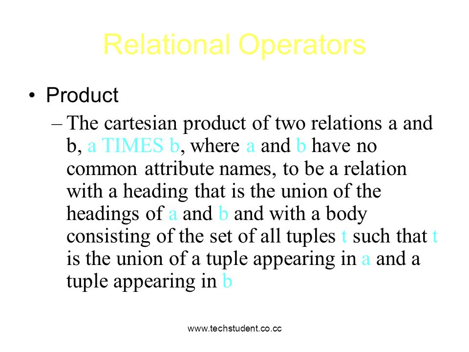 Relational Operators Product